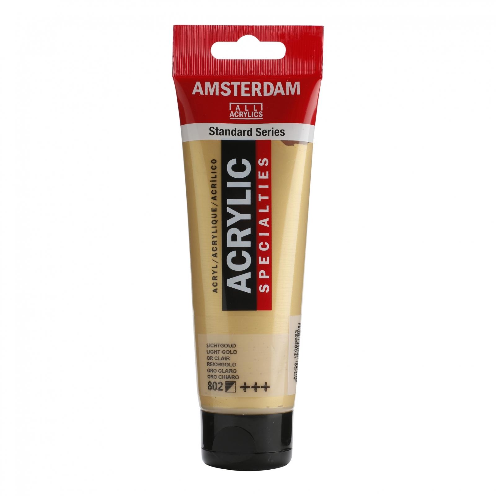 Tinta Acrílica Amsterdam Ouro Claro 120ml (+++802) - Papelaria Botafogo