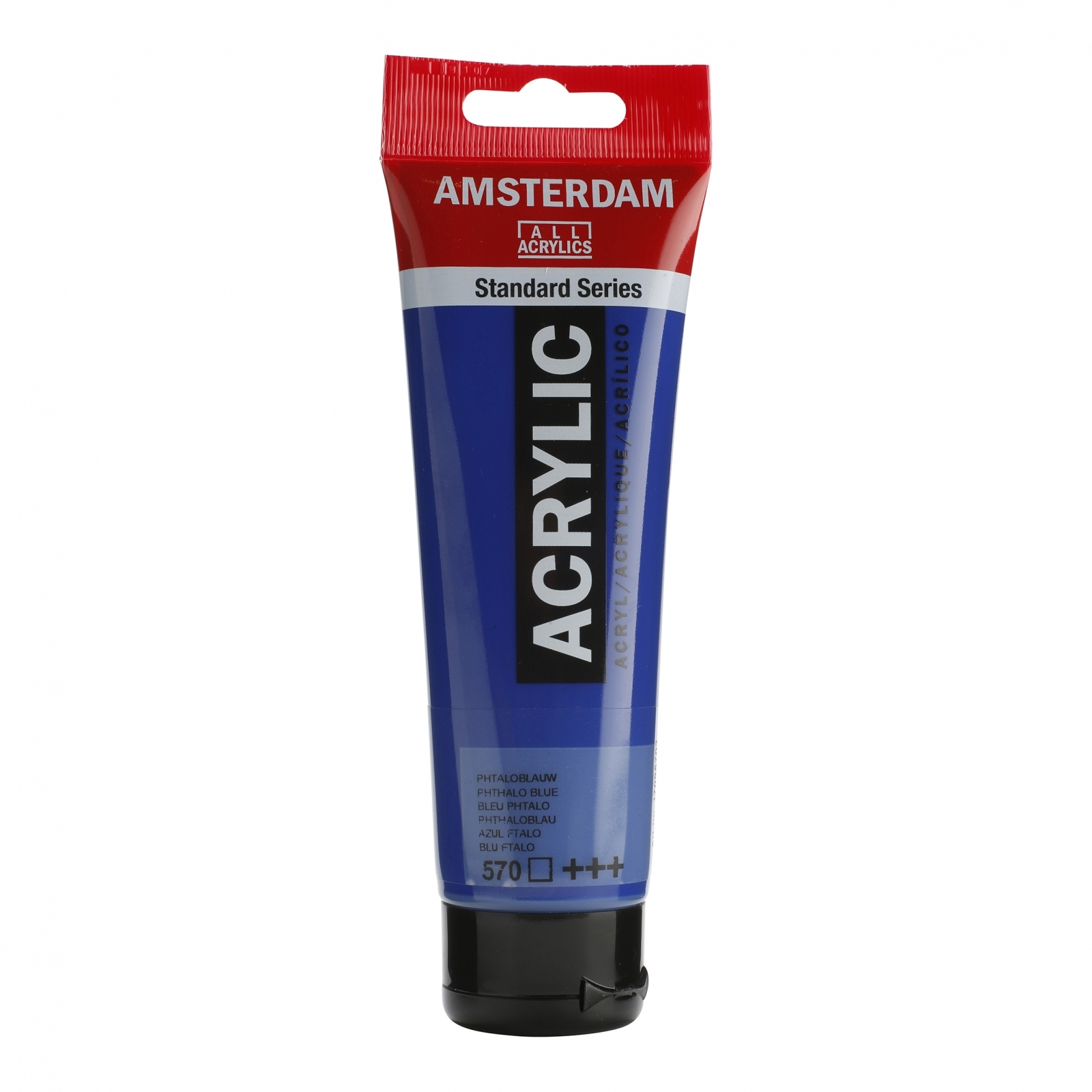 Tinta Acrílica Amsterdam Phthalo Blue 120ml (+++570) - Papelaria Botafogo