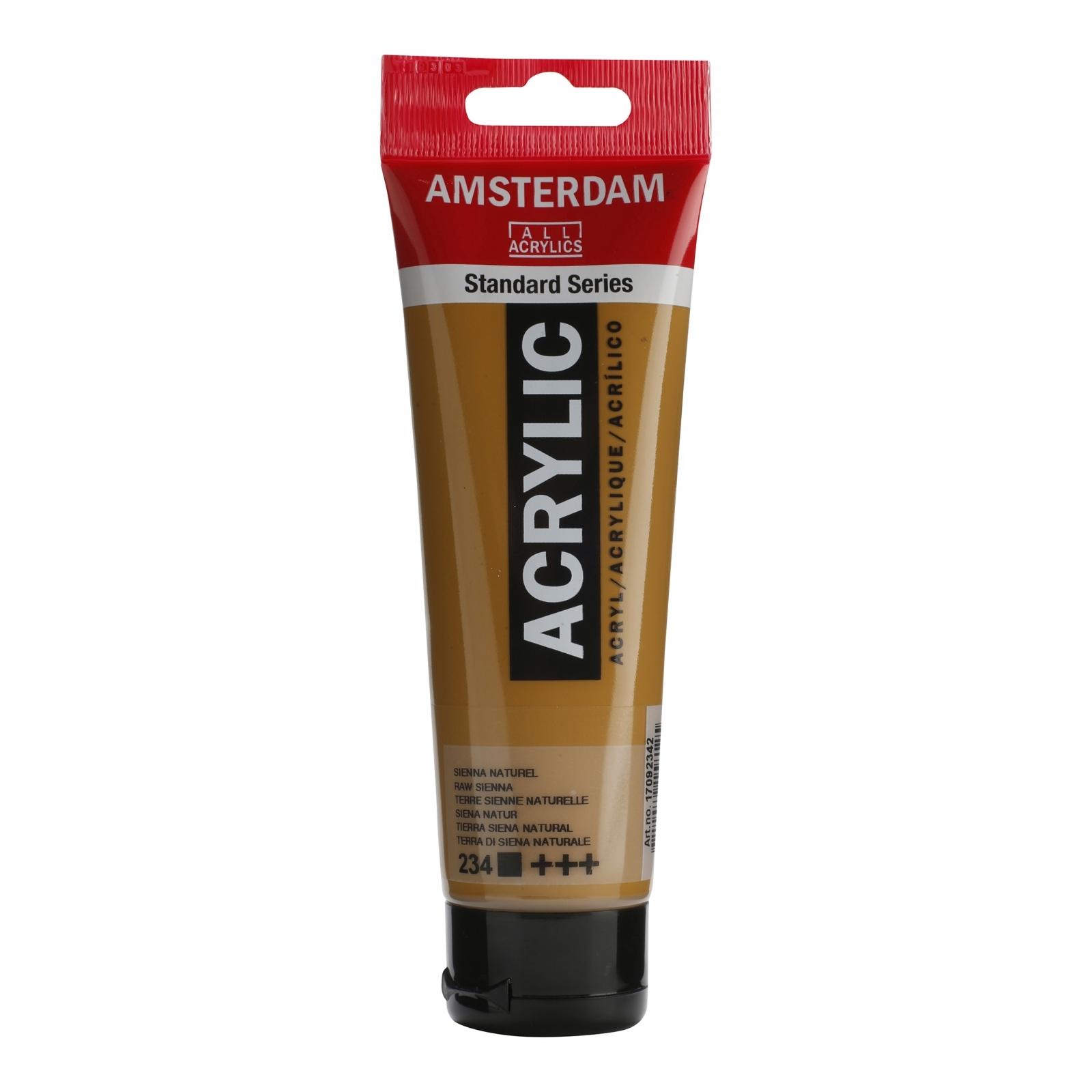 Tinta Acrílica Amsterdam Sienna Natural 120ml (+++234) - Papelaria Botafogo