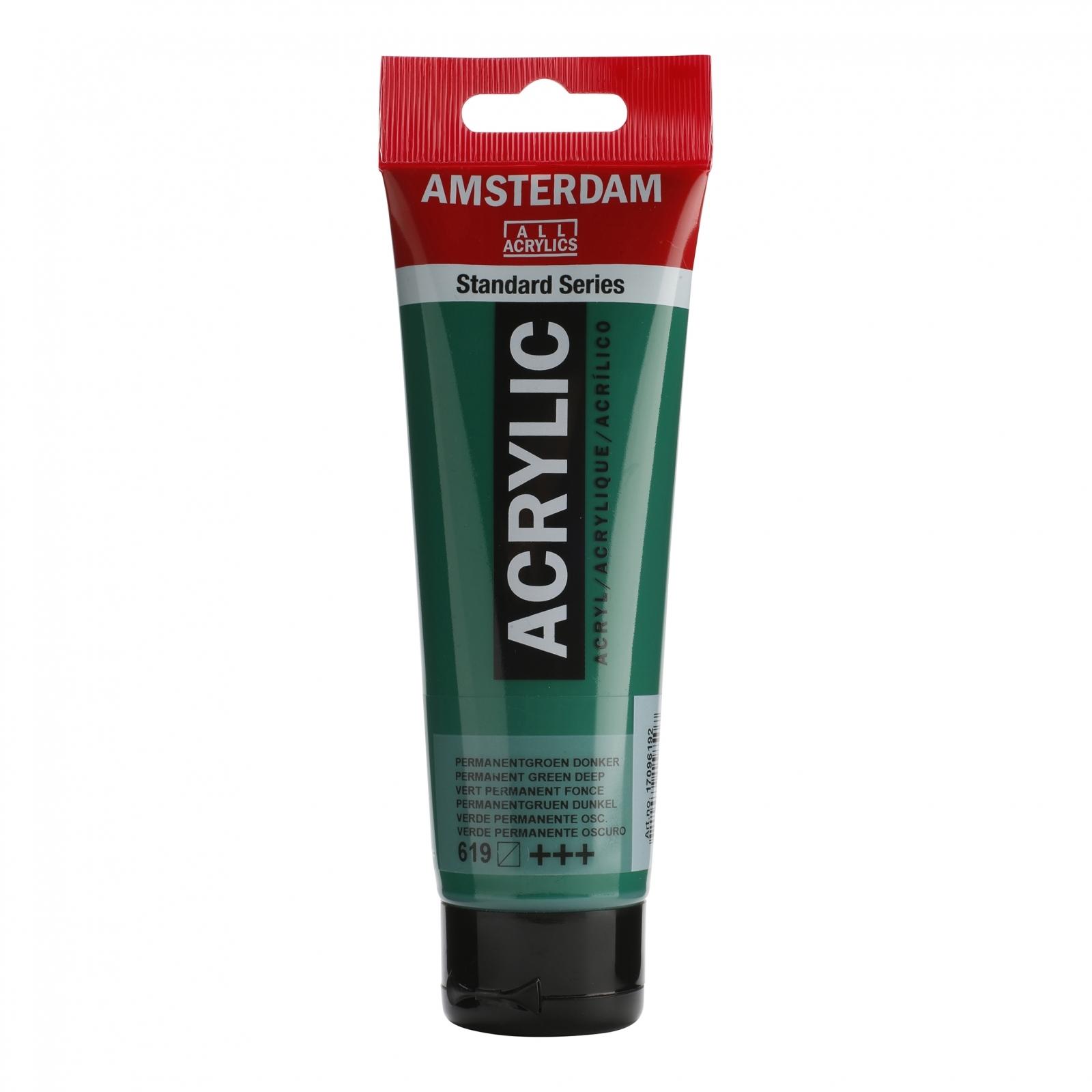 Tinta Acrílica Amsterdam Verde Perm.Claro120ml (+++618) - Papelaria Botafogo
