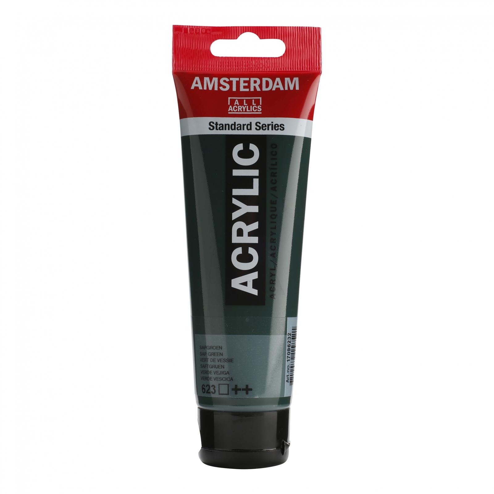 Tinta Acrílica Amsterdam Sap Green 120ml (+++623) - Papelaria Botafogo