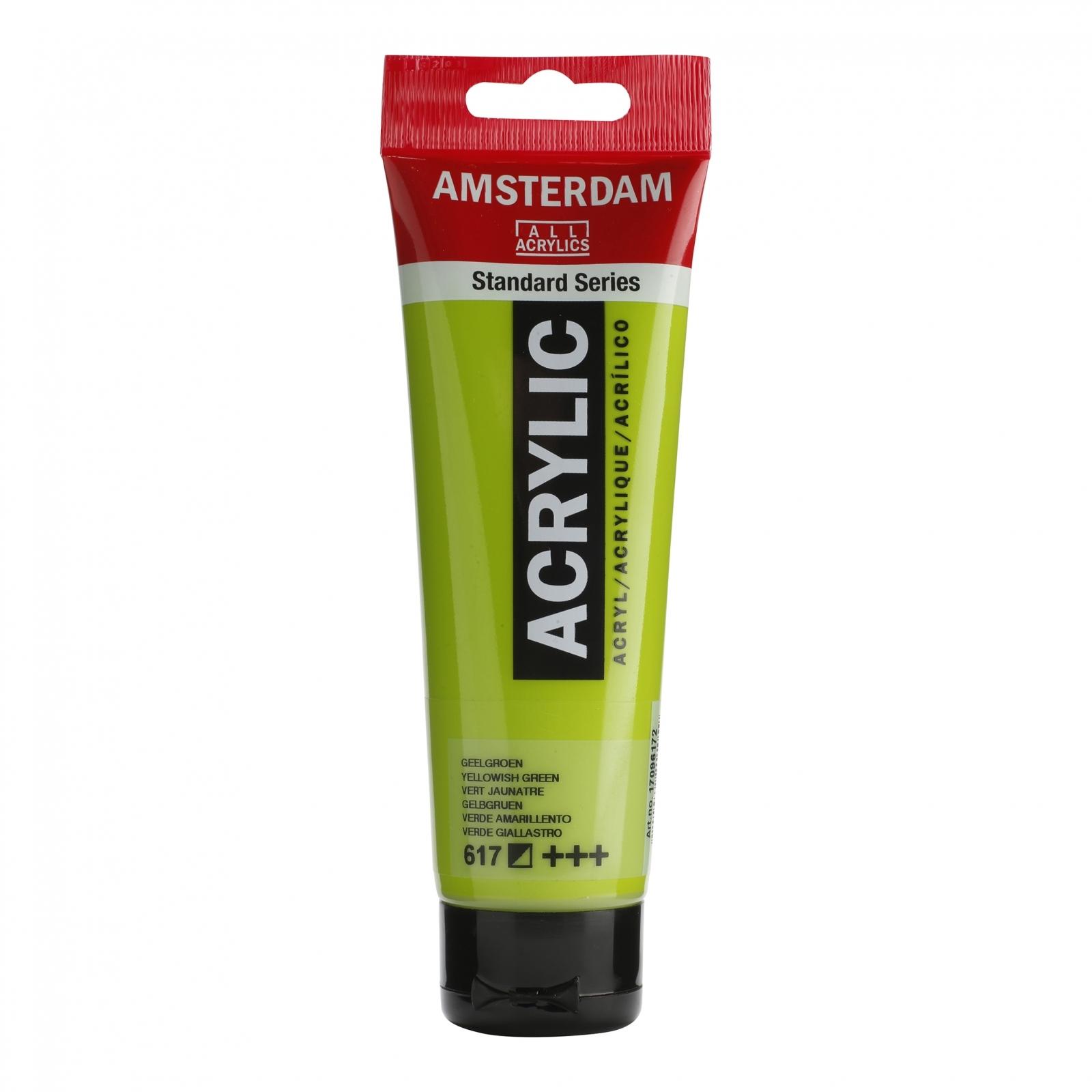 Tinta Acrílica Amsterdam Yellow Green 120ml (+++617) - Papelaria Botafogo