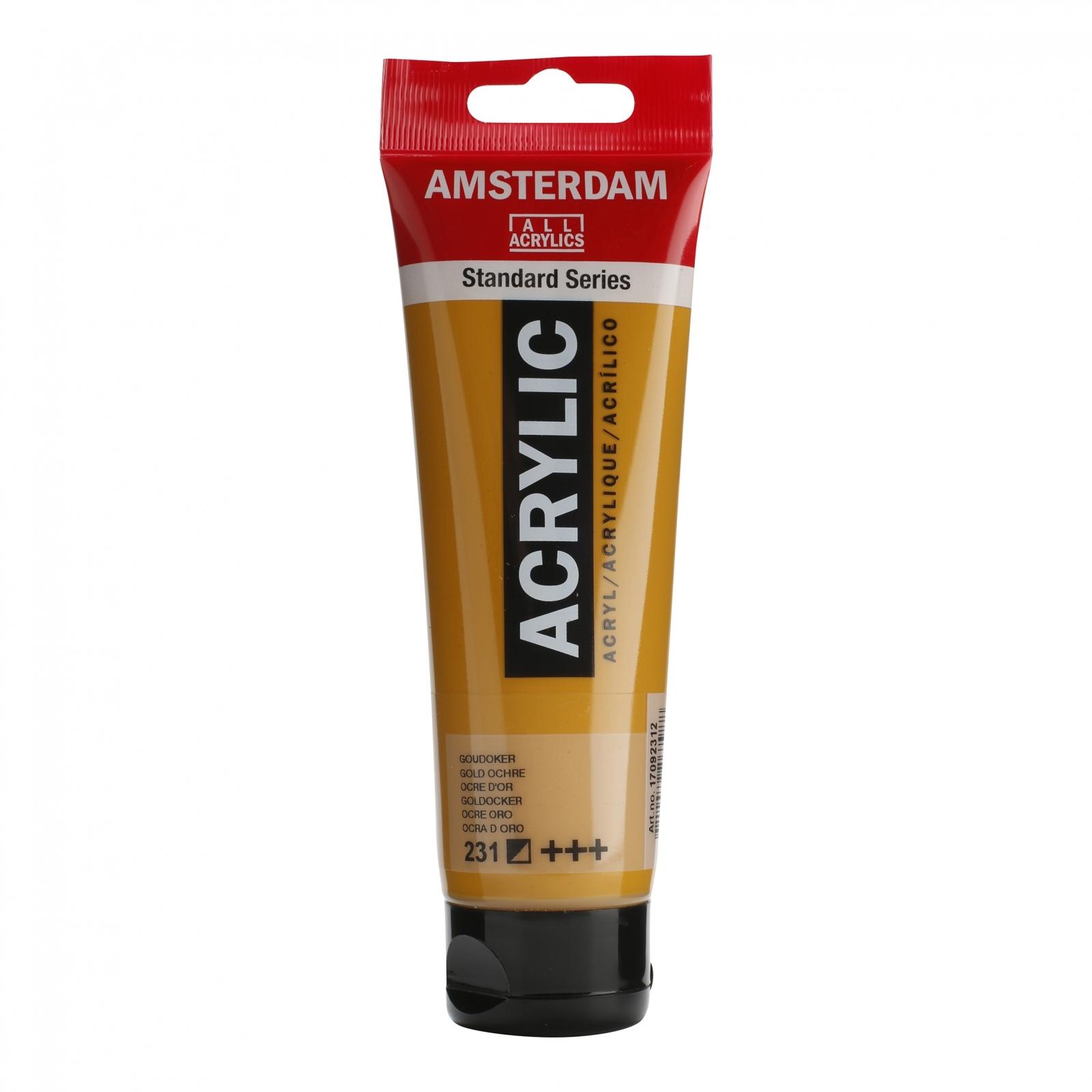 Tinta Acrílica Amsterdam Ocre Dourado 120ml (+++231) - Papelaria Botafogo