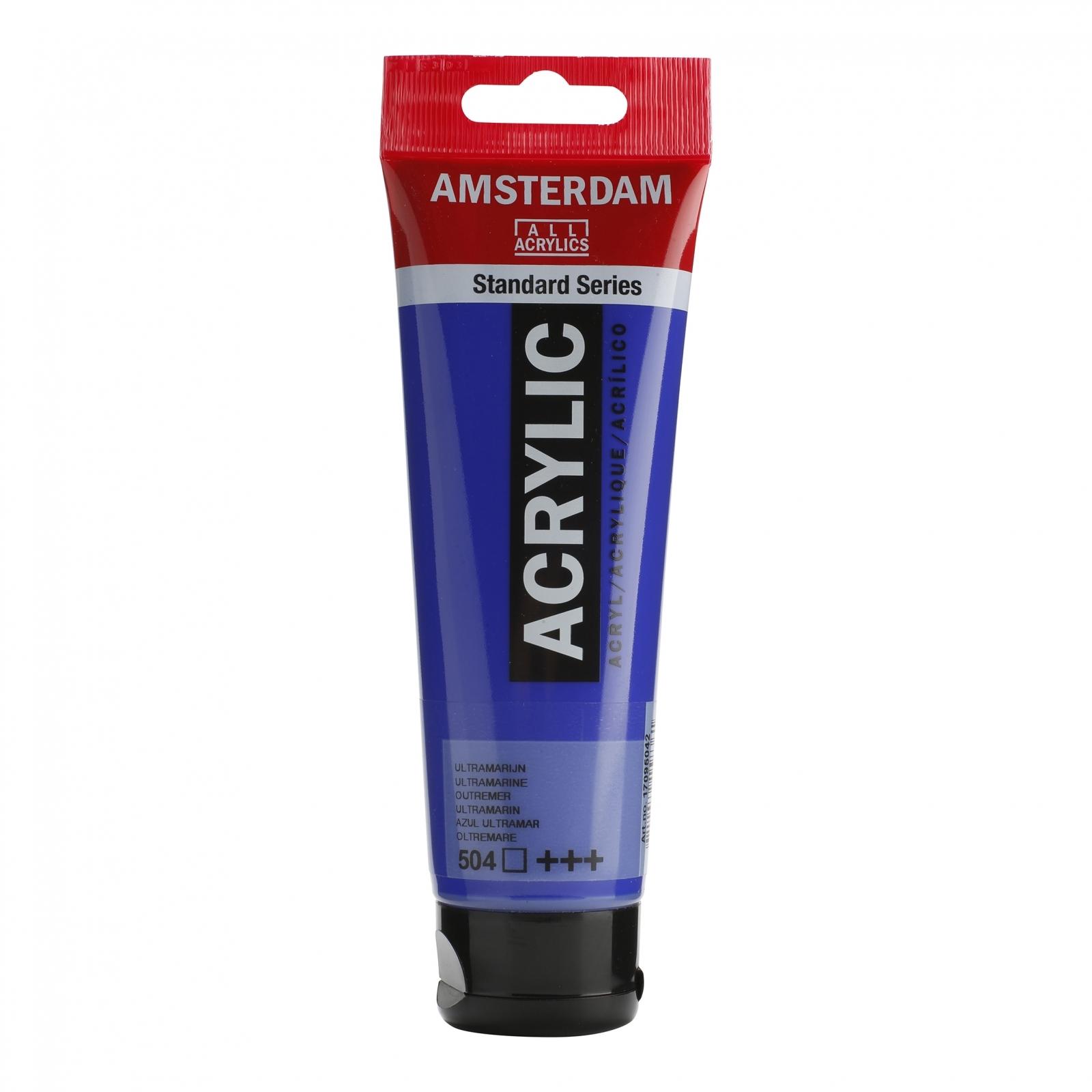 Tinta Acrílica Amsterdam Ultramarine 120ml (+++504) - Papelaria Botafogo