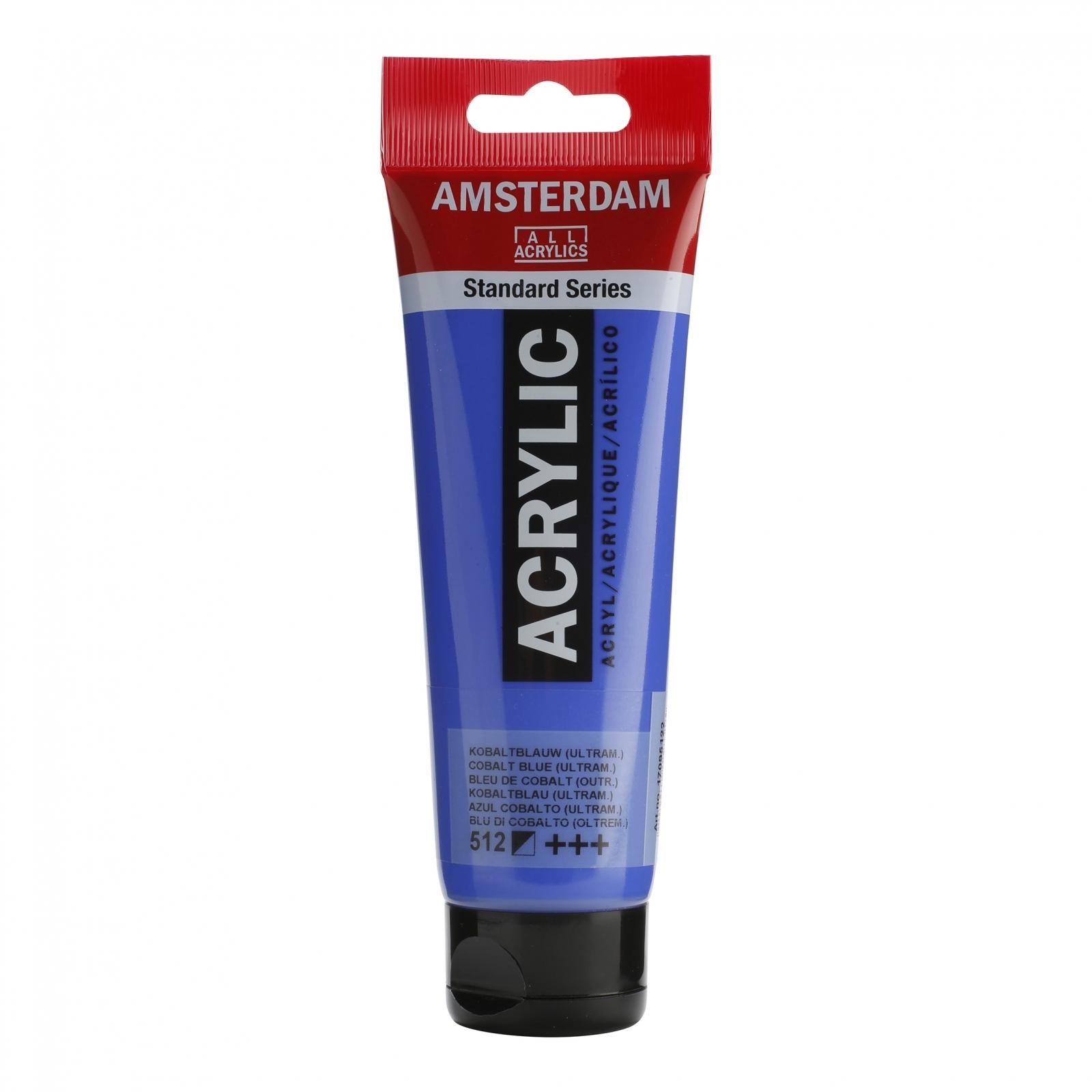 Tinta Acrílica Amsterdam Azul Cobalto 120ml (+++512) - Papelaria Botafogo