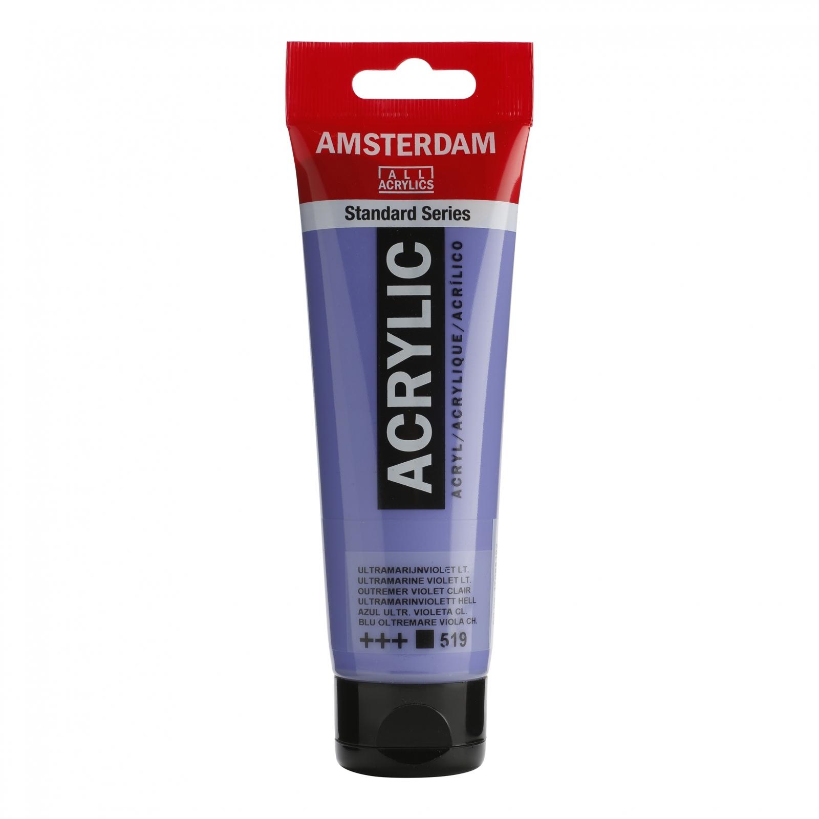 Tinta Acrílica Amsterdam Violeta Ultramarine Claro120ml (+++519) - Papelaria Botafogo