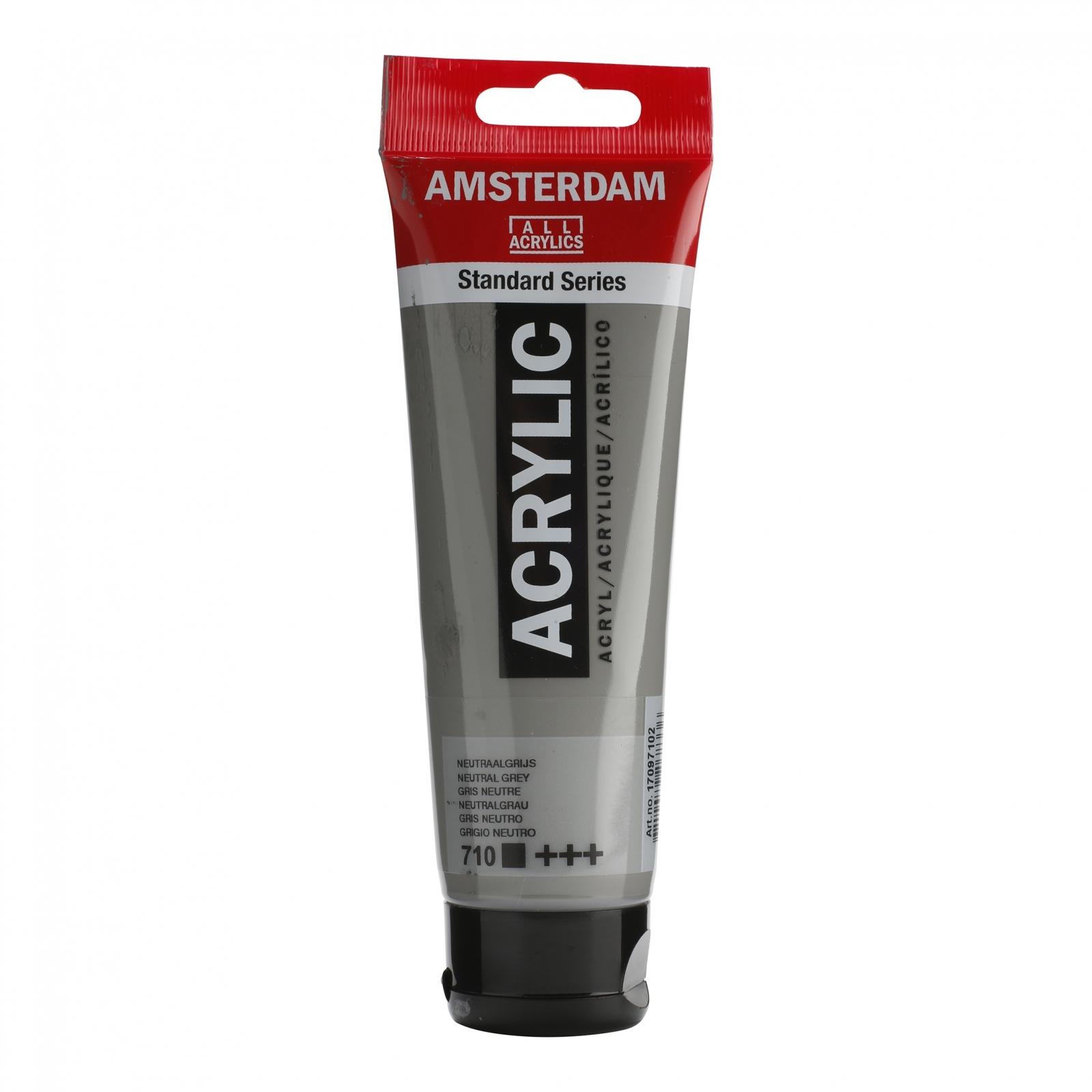Tinta Acrílica Amsterdam Neutral Grey 120ml (+++710) - Papelaria Botafogo