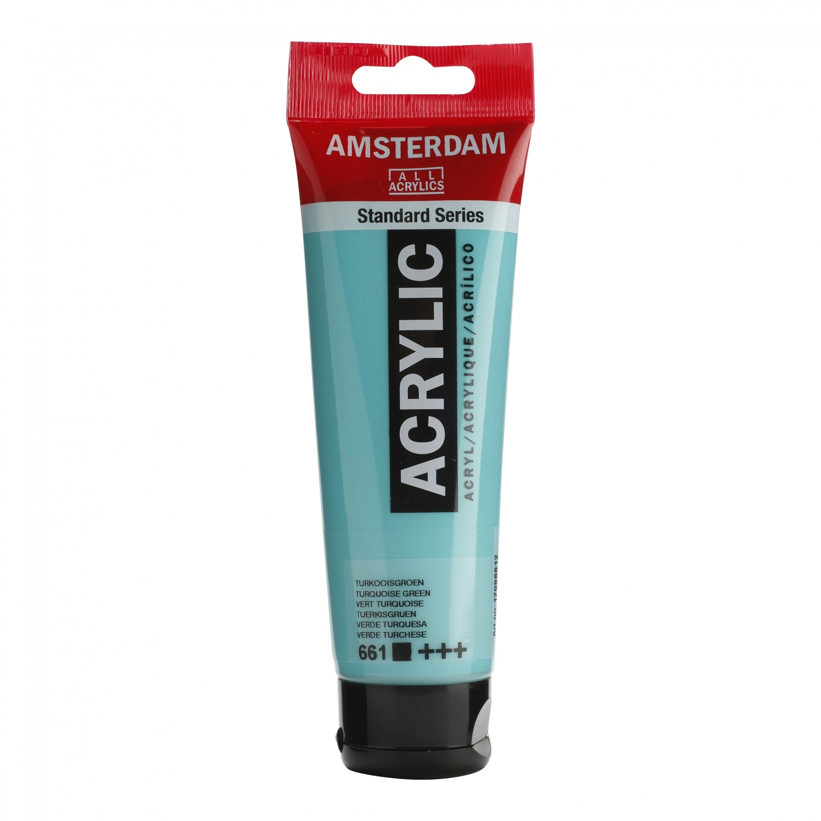 Tinta Acrílica Amsterdam Turquoise green 120ml (+++661) - Papelaria Botafogo