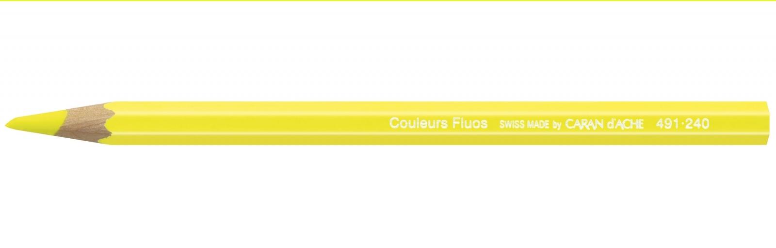 Lápis Maxi Jumbo Fluorescente Carandache 491 240 Amarelo - Papelaria Botafogo