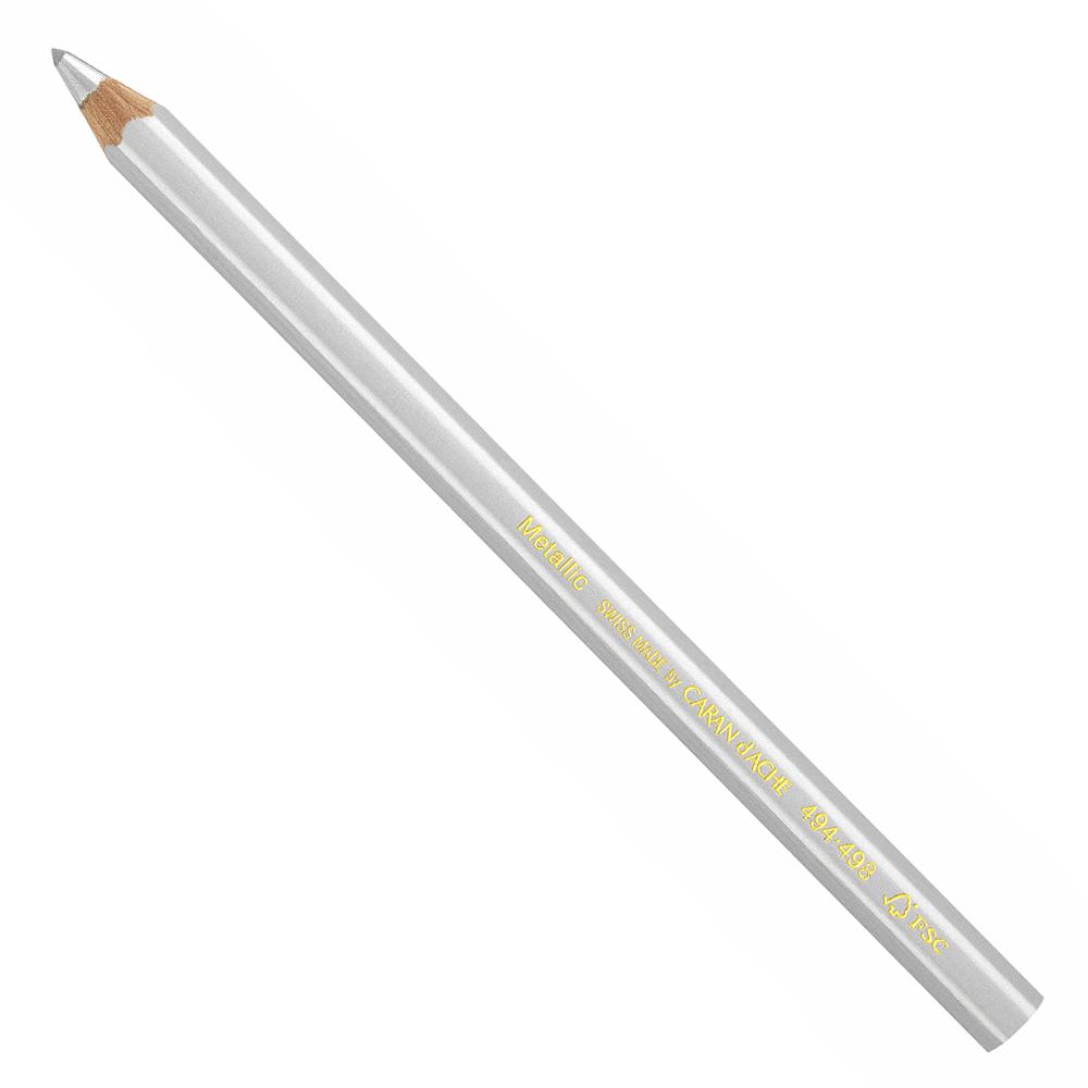Lápis Maxi Metallic Carandache 494 498 Prata - Papelaria Botafogo