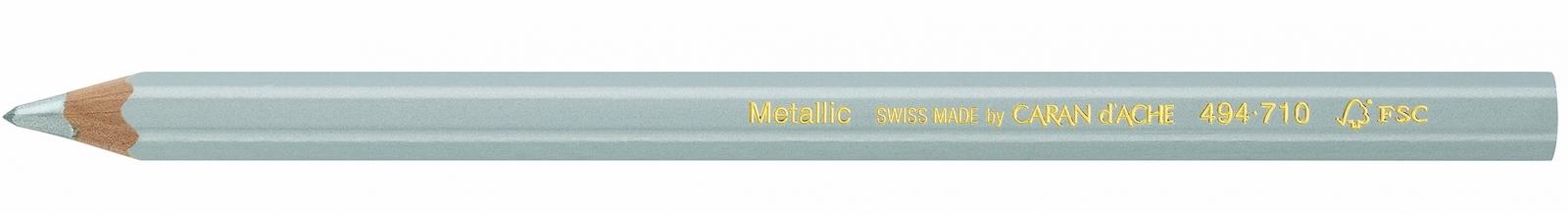 Lápis Maxi Jumbo Metallic Carandache 494 710 Verde - Papelaria Botafogo