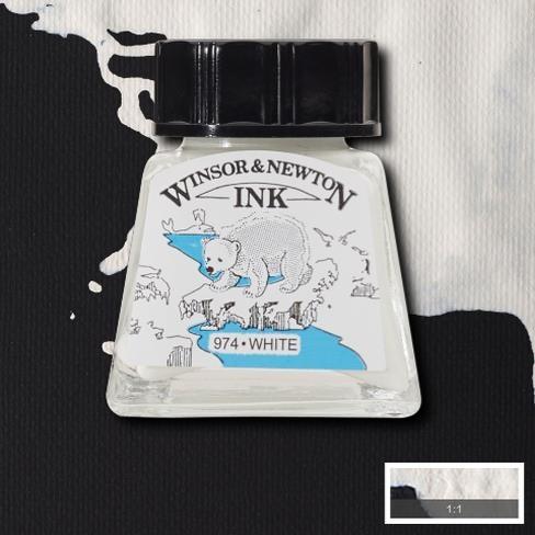 Tinta para Desenho Winsor & Newton Branca 14ml (1005702) - Papelaria Botafogo