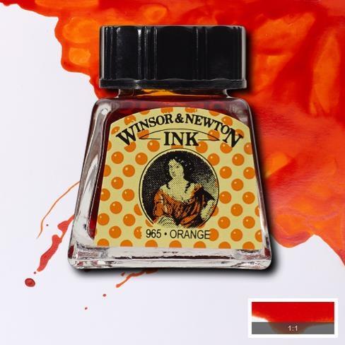 Tinta para Desenho Winsor & Newton Laranja 14ml (1005449) - Papelaria Botafogo