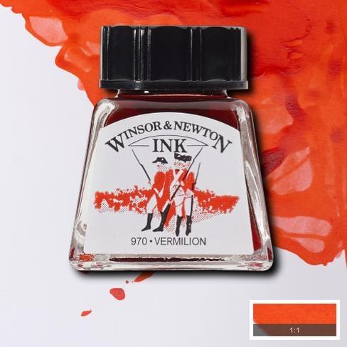 Tinta para Desenho Winsor & Newton Vermelhão 14ml (1005680) - Papelaria Botafogo