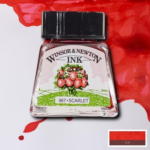 Tinta para Desenho Winsor & Newton Escarlate 14ml (1005601) - Papelaria Botafogo
