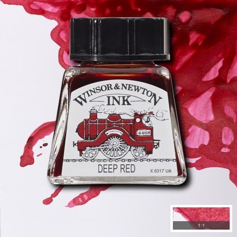 Tinta para Desenho Winsor & Newton Vermelho Escuro 14ml (1005227) - Papelaria Botafogo
