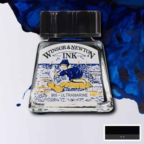 Tinta para Desenho Winsor & Newton Azul Ultramarino 14ml (1005660) - Papelaria Botafogo