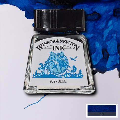 Tinta para Desenho Winsor & Newton Azul 14ml (1005032) - Papelaria Botafogo