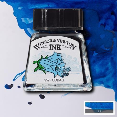 Tinta para Desenho Winsor & Newton Azul Cobalto 14ml (1005176) - Papelaria Botafogo