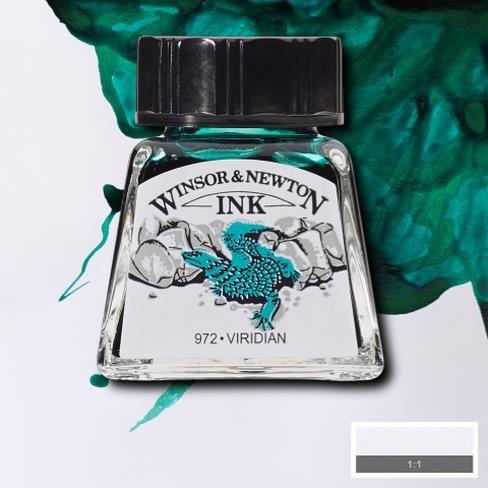 Tinta para Desenho Winsor & Newton Verde Viridian 14ml (1005692) - Papelaria Botafogo