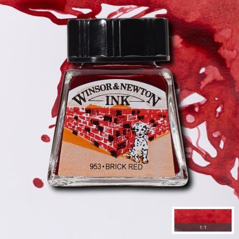 Tinta para Desenho Winsor & Newton Vermelho Tijolo 14ml (1005040) - Papelaria Botafogo