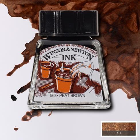 Tinta para Desenho Winsor & Newton Marrom Turfa 14ml (1005469) - Papelaria Botafogo