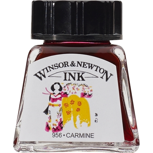 Tinta para Desenho Winsor & Newton Carmine 14ml (1005127) - Papelaria Botafogo
