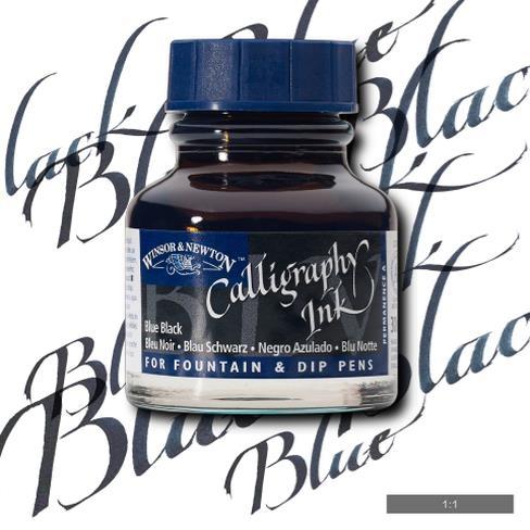 Tinta para Caligrafia Winsor & Newton Preto Azulado 30ml (11 - Papelaria Botafogo