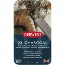 Carvão XL Vegetal 6 Cores Estojo Lata Derwent