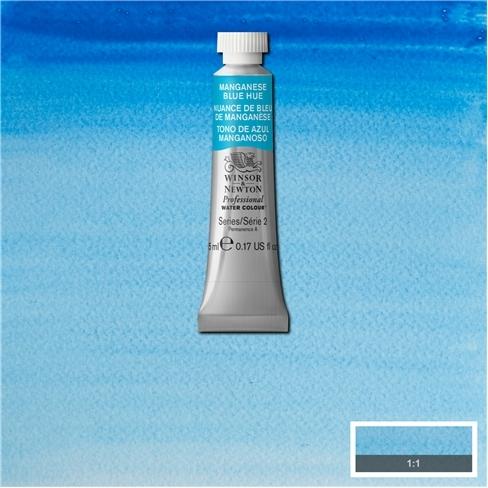 Tinta Aquarela Profissional Winsor & Newton Azul Manganês tubo 5ml S2 (0102379) - Papelaria Botafogo