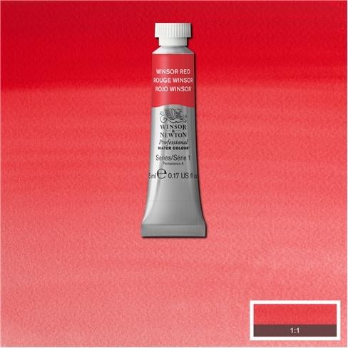 Tinta Aquarela Profissional Winsor & Newton Vermelho Winsor tubo 5ml S1 (0102726) - Papelaria Botafogo