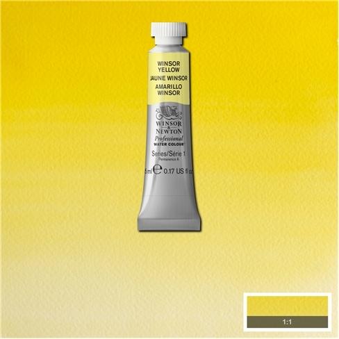 Tinta Aquarela Profissional Winsor & Newton Amarelo Winsor tubo 5ml S1 (0102730) - Papelaria Botafogo