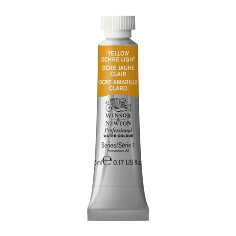 Tinta Aquarela Profissional Winsor & Newton Amarelo Ocre Claro tubo 5ml S1 (0102745) - Papelaria Botafogo