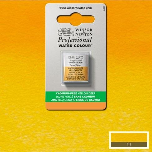 Tinta Aquarela Profissional W&N Amarelo Escuro Sem Cádmio Pastilha S4 (0101891) - Papelaria Botafogo
