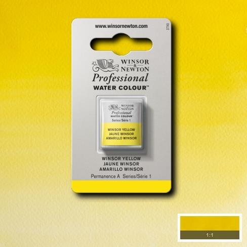 Tinta Aquarela Profissional W&N Amarelo Winsor Escuro Pastilha S1 (0101731) - Papelaria Botafogo