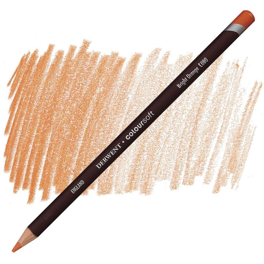 Lápis Coloursoft Derwent Bright Orange (C080) un. - Papelaria Botafogo