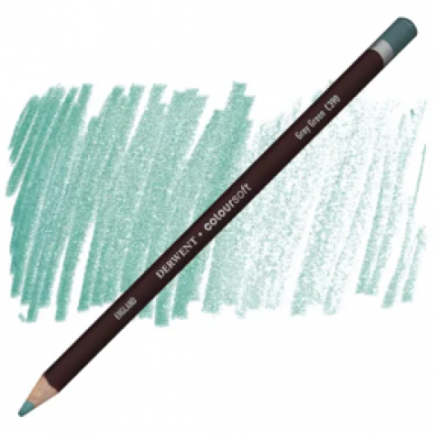 Lápis Coloursoft Derwent Grey Green (C390) un. - Papelaria Botafogo