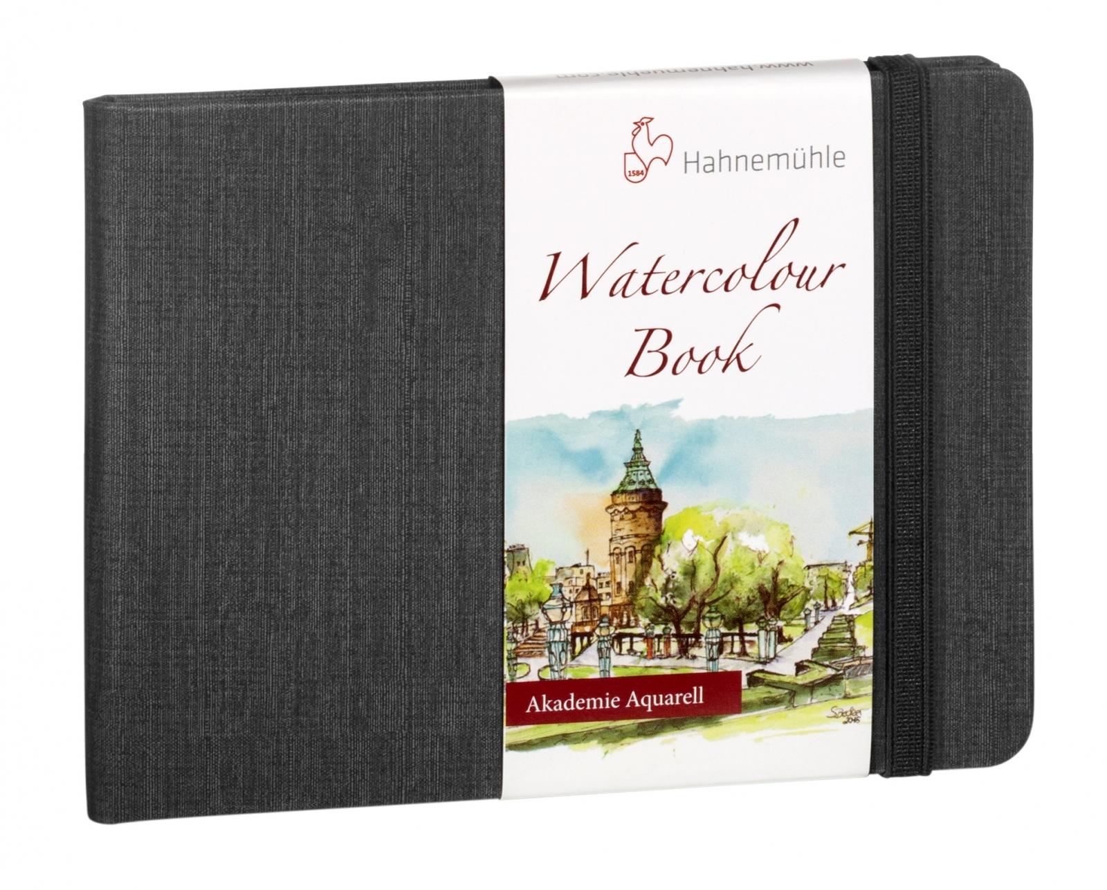 Watercolour Book A4 200g/m Capa Preta Paisagem (10628812) - Papelaria Botafogo