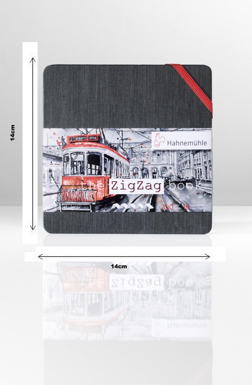 The ZigZag Book 14x14 (quadrado) 300g/m (10625002) - Papelaria Botafogo