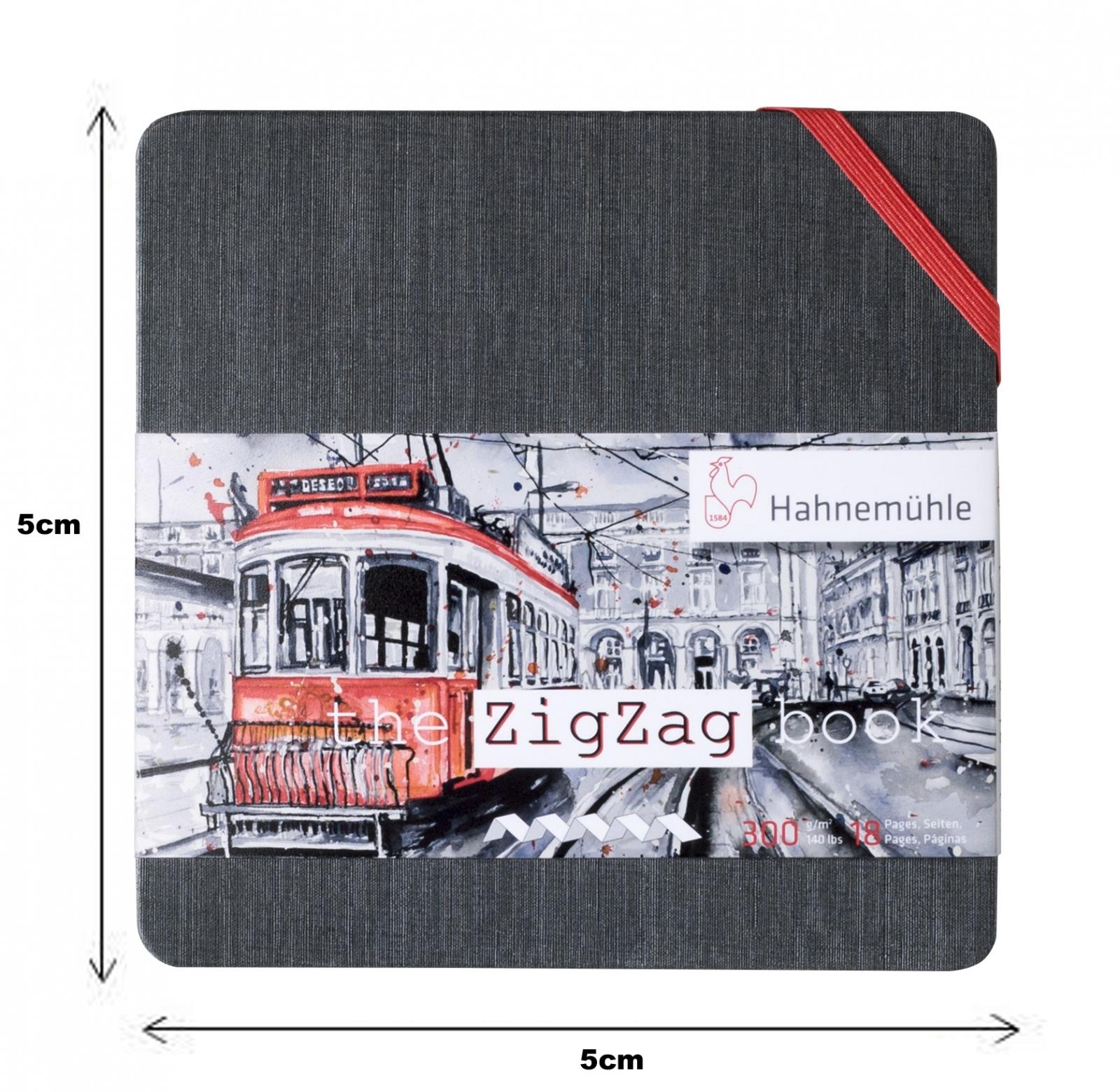 The ZigZag Book 5cmx5cm (quadrado pequeno) 300g/m (10625002) - Papelaria Botafogo