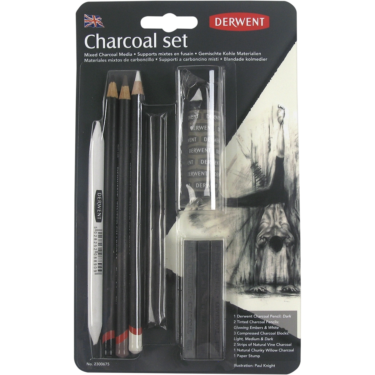 Kit de Carvão com 10 peças (Charcoal Set) - Papelaria Botafogo