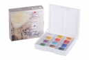 Kit 12 Tintas Aquarela White Nights Pastilha 1242