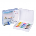 Kit 12 Tintas Aquarela White Nights Pastilha 2036