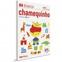 Papel sulfite Chamequinho Branco A4 75g 210mmx297mm 100 FL