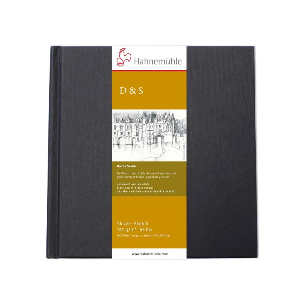 D&S SKETCH BOOK 140g/m CADERNO PRETO TAM 14x14 10628225  - Papelaria Botafogo