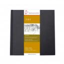 D&S SKETCH BOOK 140g/m CADERNO PRETO TAM 14x14 10628225