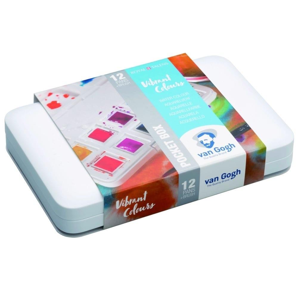 VVan Gogh Pocket Box Estojo 12Cores Vibrant Colours - Papelaria Botafogo