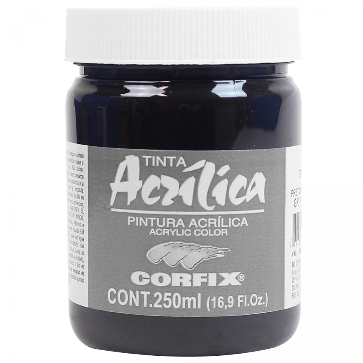 ACRILICA ARTS BRIL 250ML GR 1 121 PRETO DE MARTE - Papelaria Botafogo