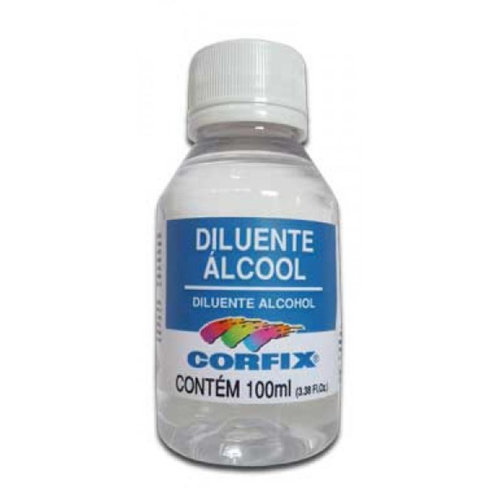 DILUENTE ALCOOL 100ML CORFIX - Papelaria Botafogo