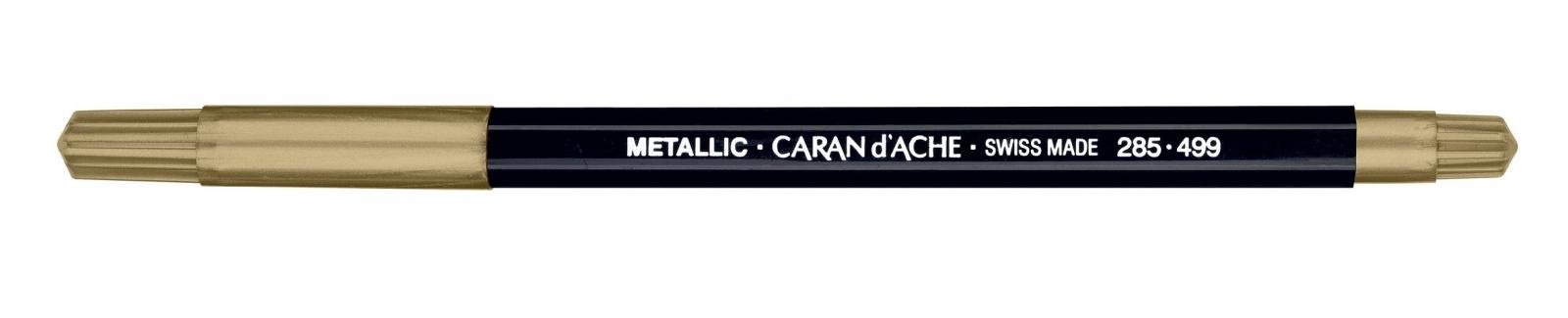 CANETA CARAN dACHE FANCOLOR METALICA OURO - Papelaria Botafogo